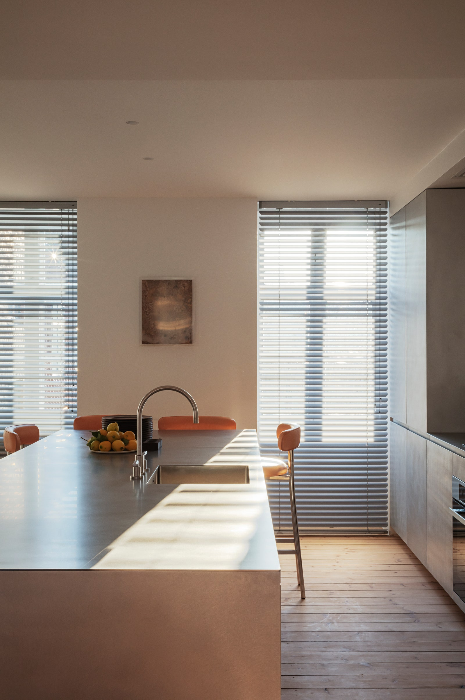 a sleek kitchen