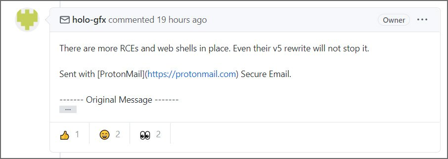 Holo-Gfx warning of RCE vulnerabilities and web shells