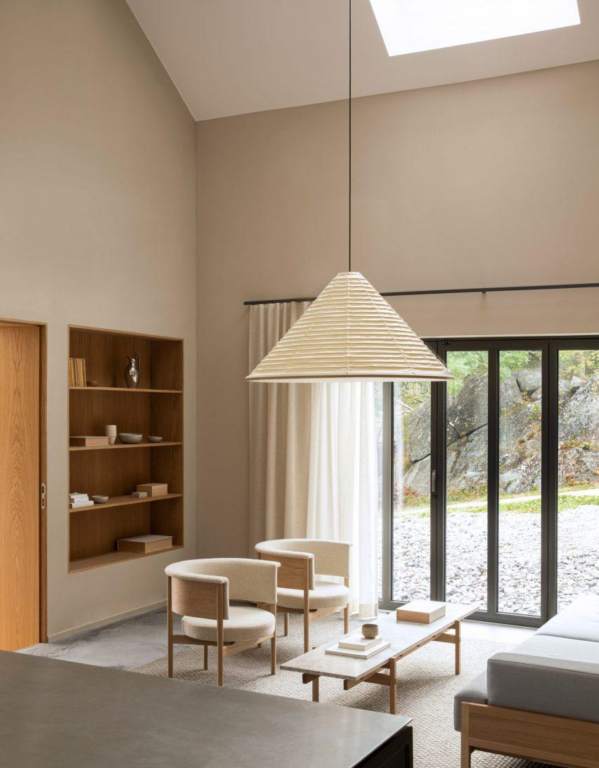 Living room in Archipelago House, Sweden