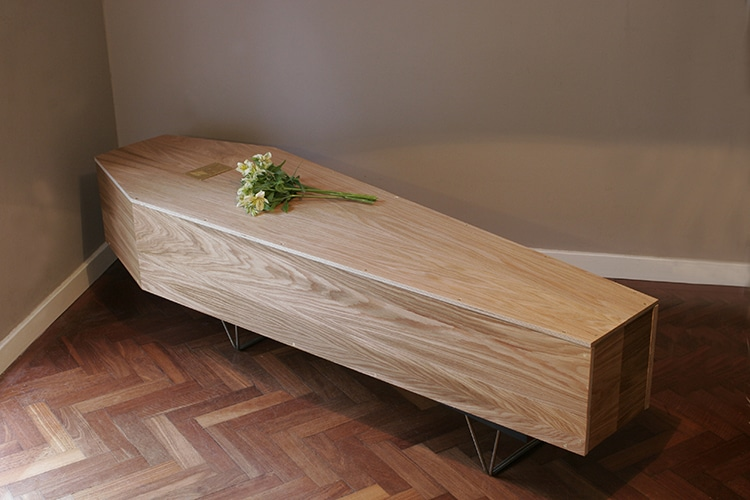 Coffin Form of the Shelves of Life Design by William Warren