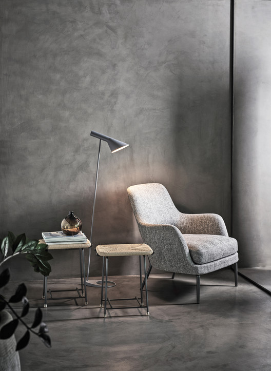 The Joyce Armchair is a mixture between design and classicism. Image Courtesy of Flexform