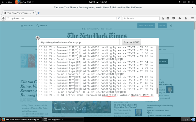 A demo planned for Wednesday will show how an ad hosted on nytimes.com could attack other HTTPS-protected sites.