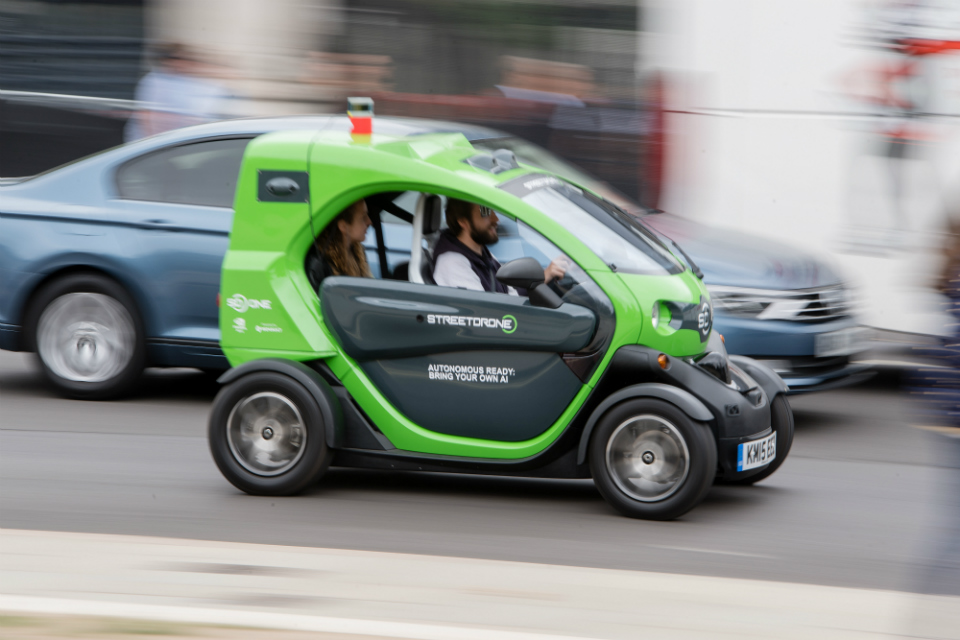 Picture of s StreetDrone self-driving vehicle. (Credit: StreetDrone)