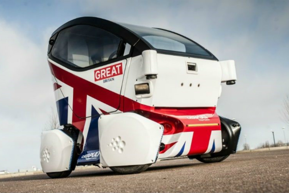 Picture of a self-driving pod (Credit: Catapult Transport Systems)