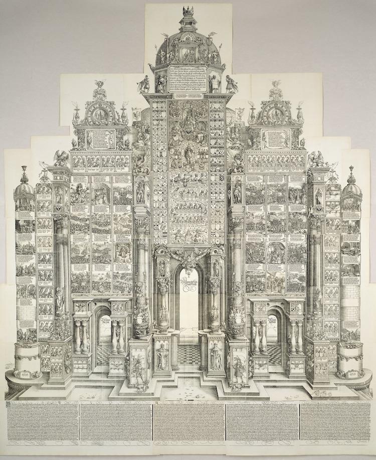 Triumphal Arch Woodcut by Albrecht Durer