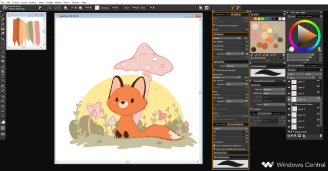 Digital Illustration without Shading in Corel Painter 2019