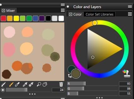 Corel Painter 2019 Mixer Palette