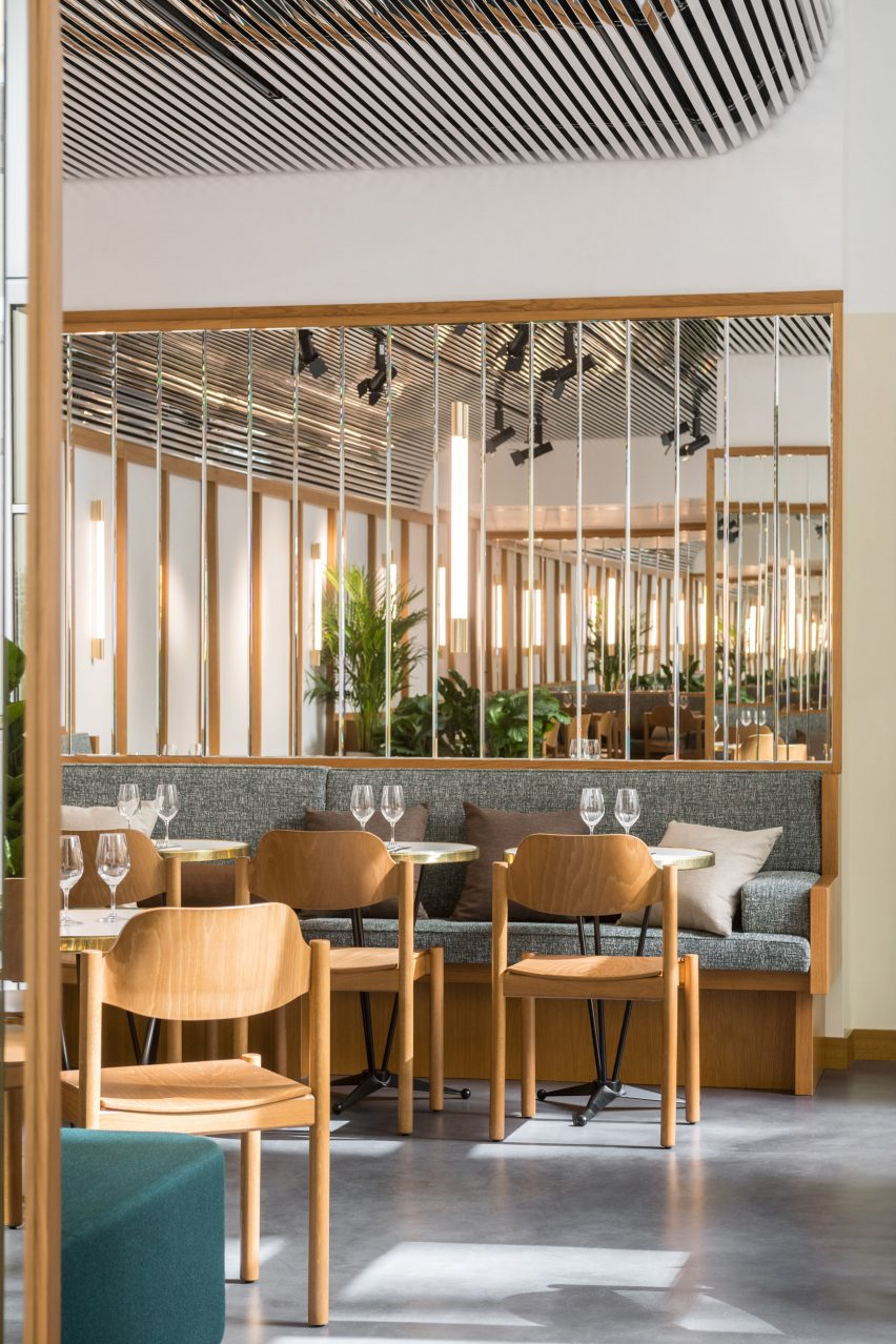 Restaurant inside The Bureau co-working space in Paris