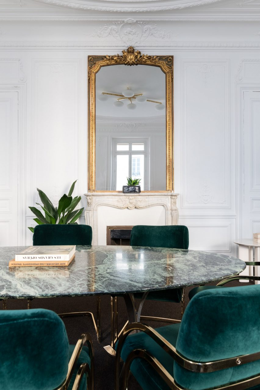 Meeting room inside of The Bureau co-working space in Paris