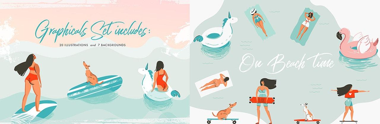 Summer Graphics Set