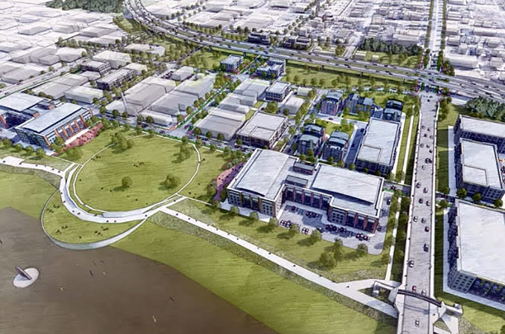Potential innovation district site, Go Topeka