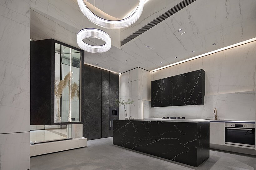 willow design fashions neolith's shenzhen showroom from sintered stone