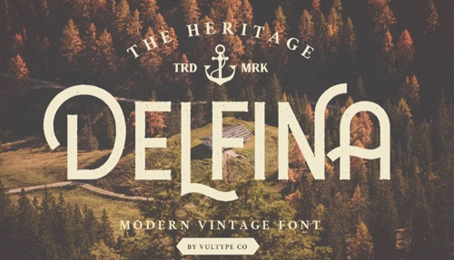 Home page of Delfina font