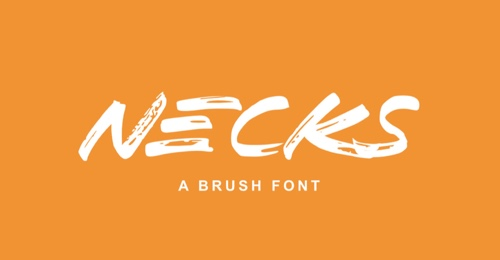 Home page of Necks font