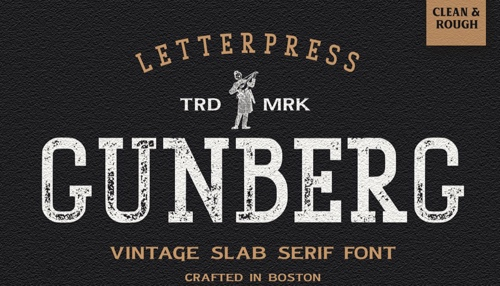Home page of Gunberg font