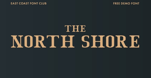 Home page of The North Shore font