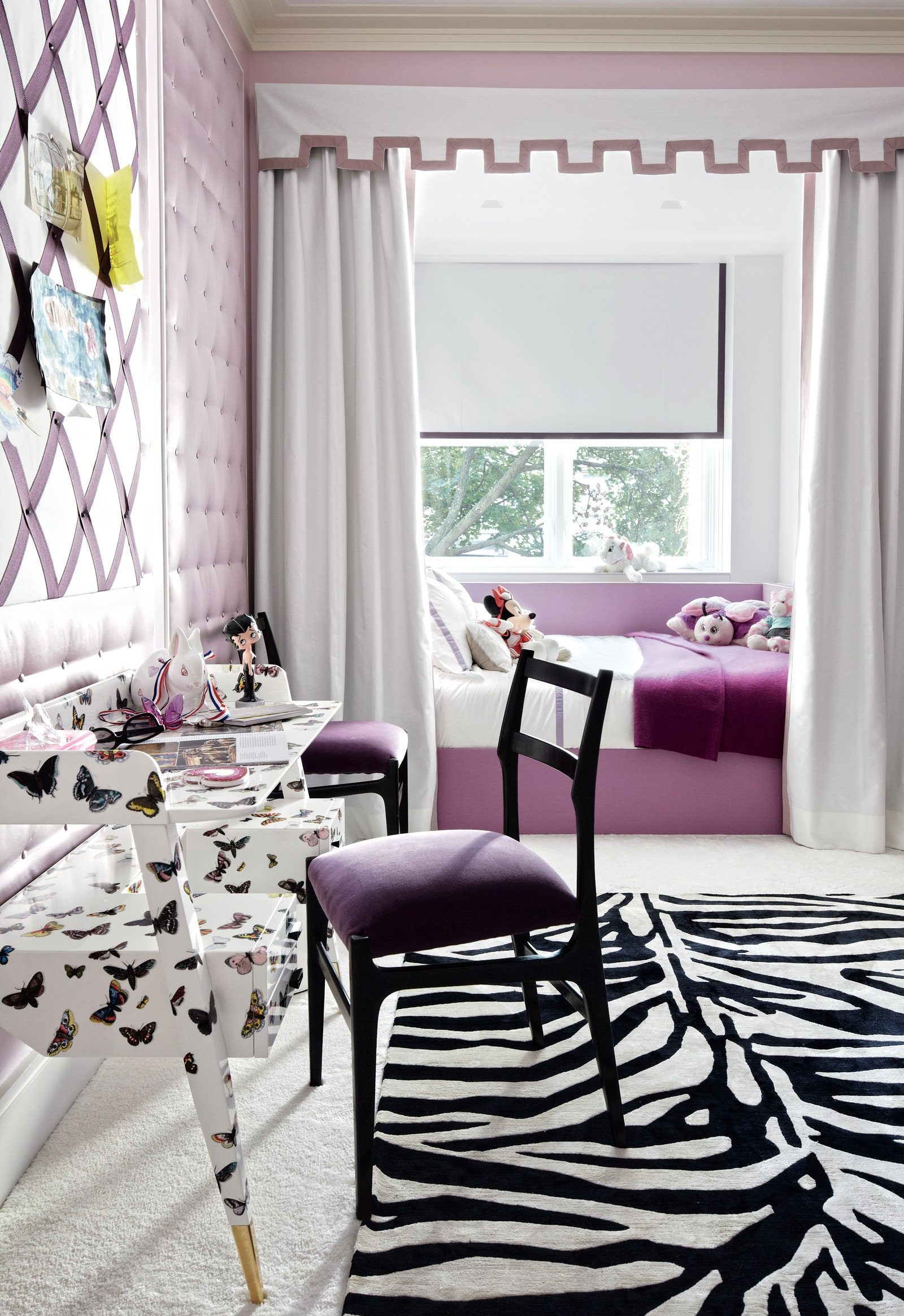 Image may contain Indoors Room Bedroom Rug Furniture Chair Interior Design and Dorm Room