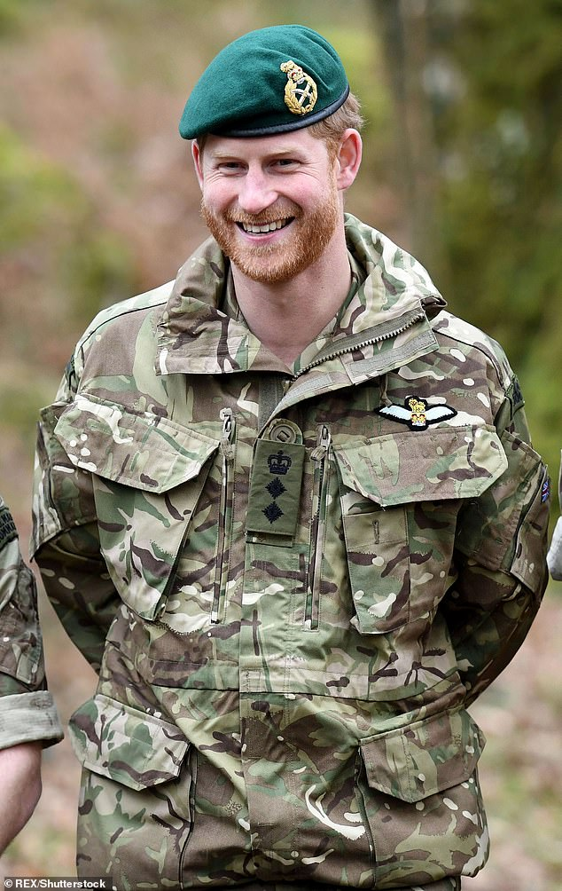 The Duke of Sussex (pictured, in a British army uniform), served a decade in the military and two tours in Afghanistan between 2007 and 2008