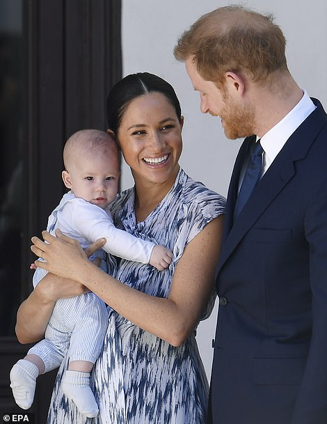 Prince Harry and Meghan Markle with Archie in Cape Town in September 2019