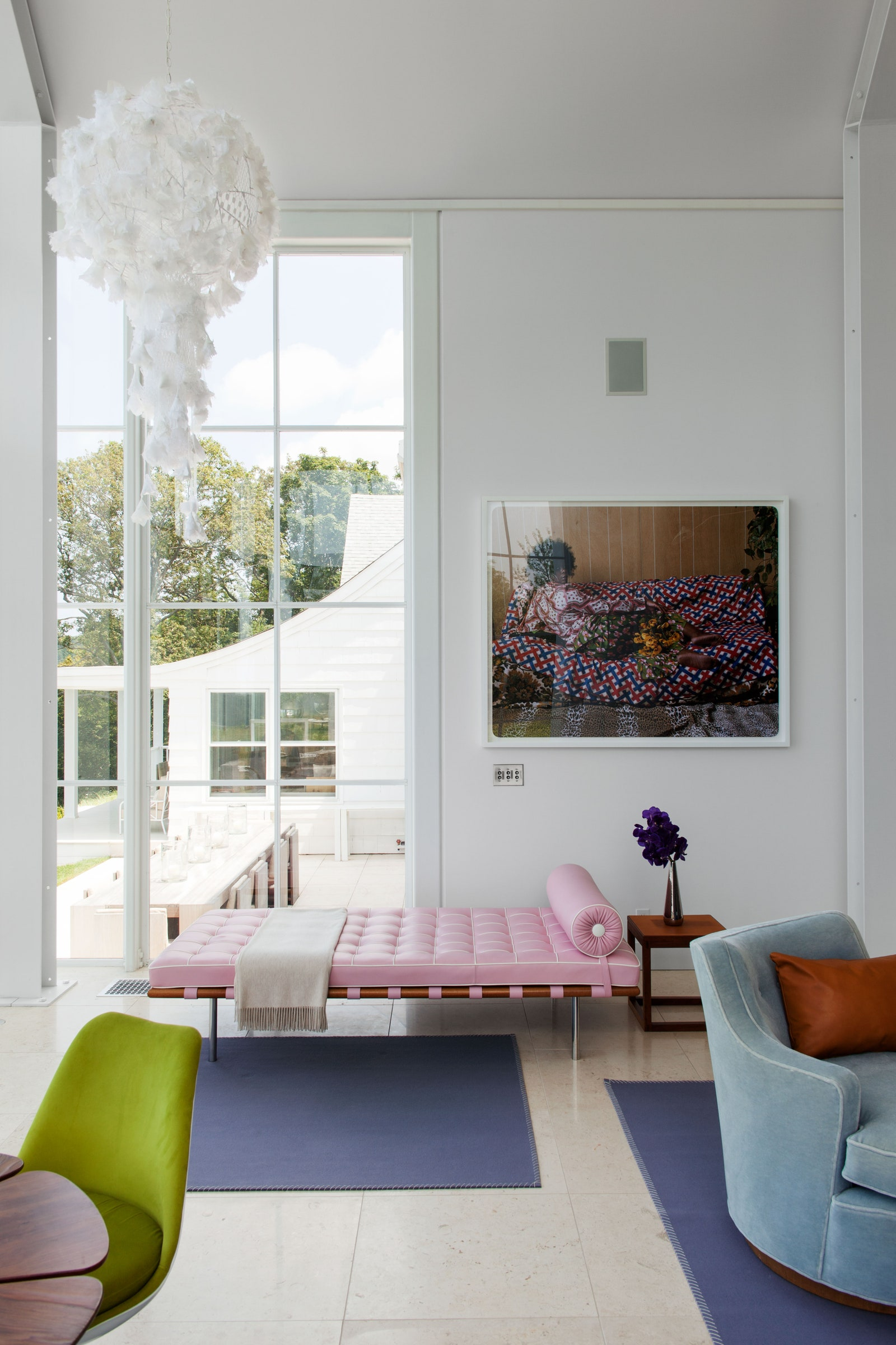 A pink Barcelona couch