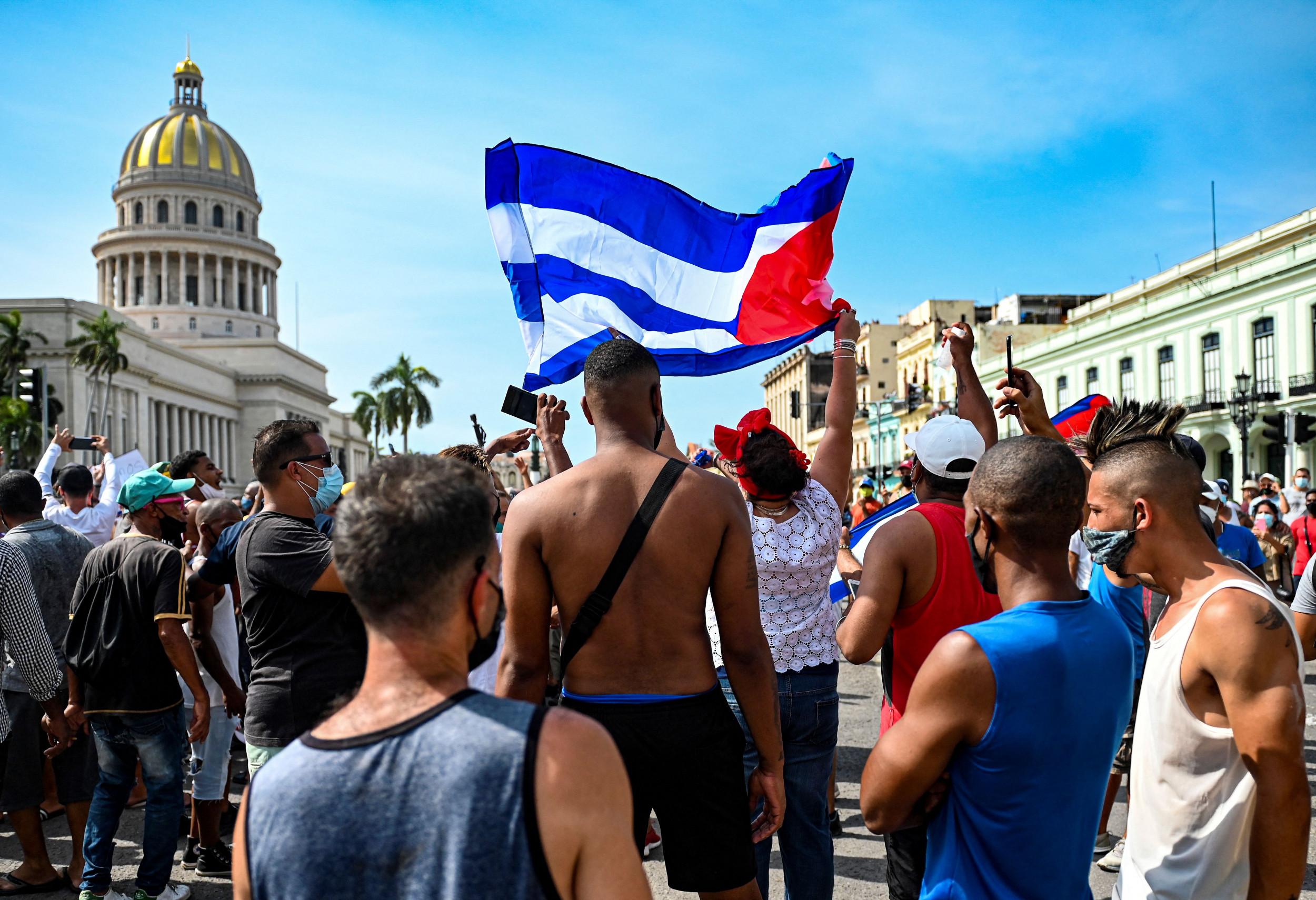 Cuba demonstration