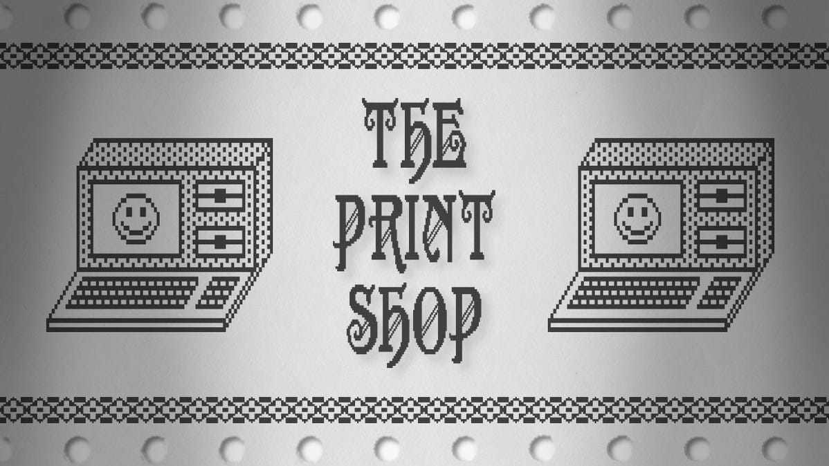 The Print Shop Logo on Tractor Feed Paper